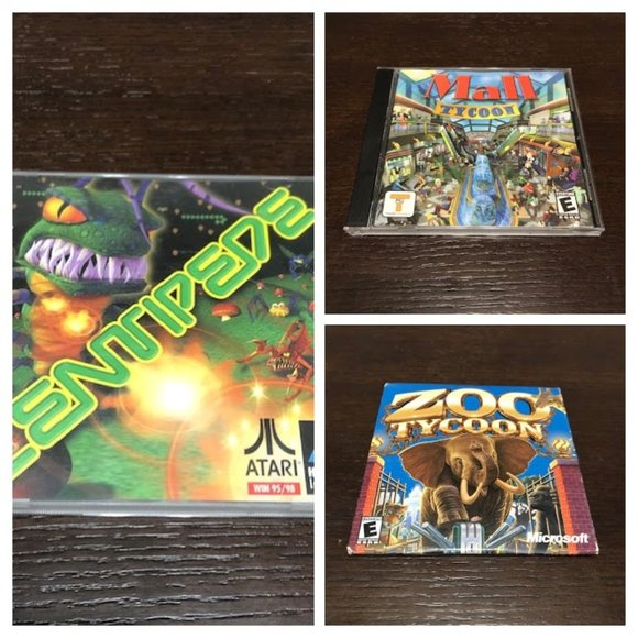 3 PC games Mall & Zoo Tycoon Centipede